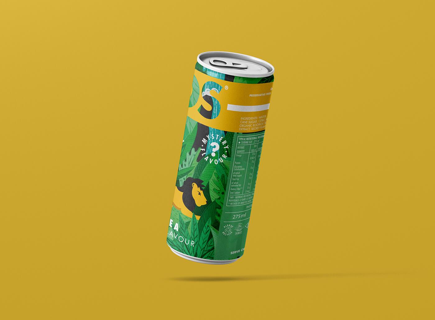 aurora creative studio graphic design illustration cape town portfolio bos ice tea design-a-can