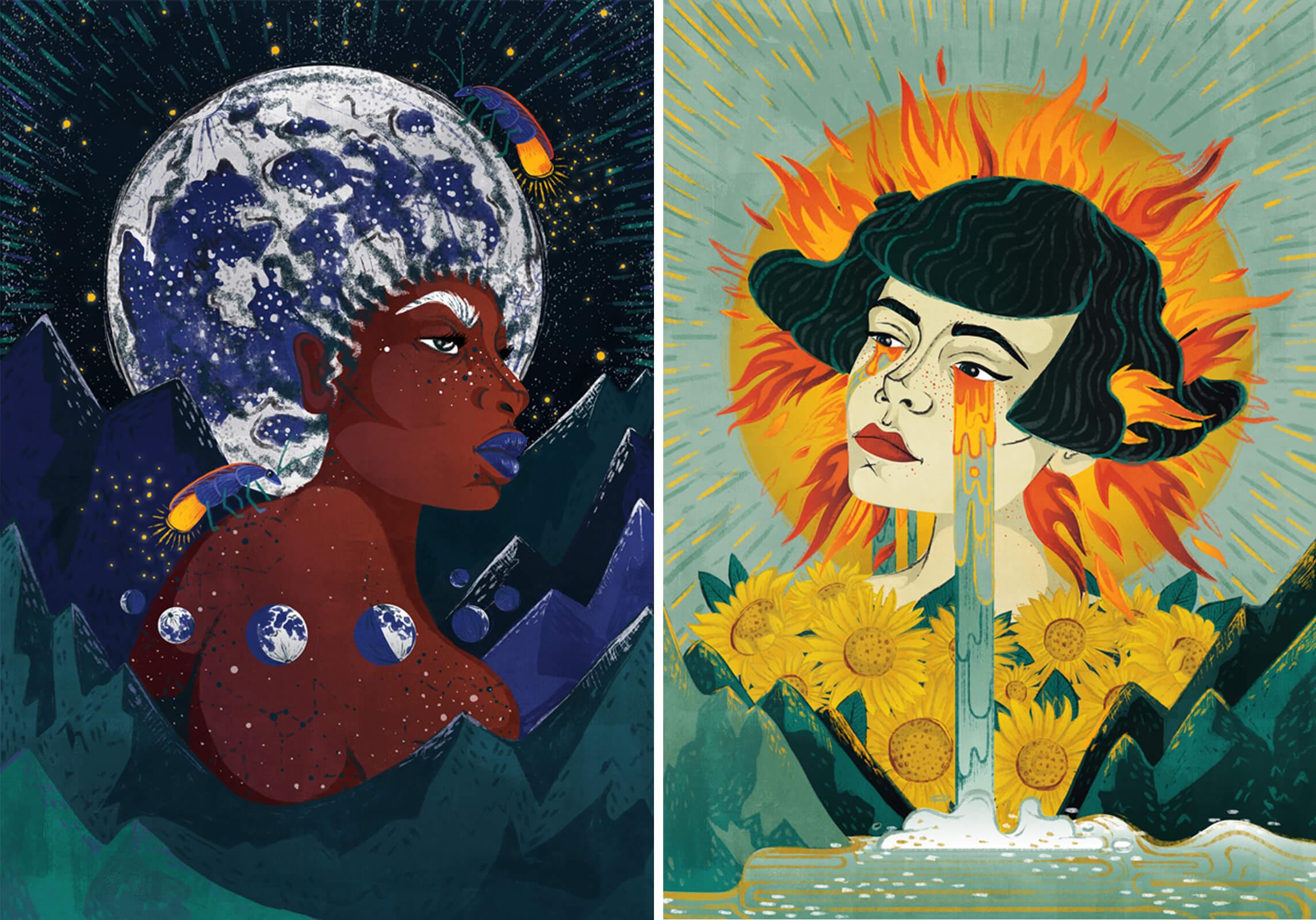 aurora creative studio graphic design illustration cape town portfolio folklore